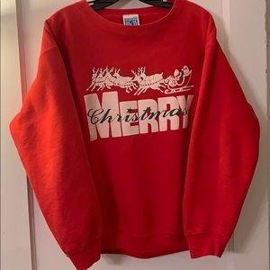 Vintage Christmas Sweatshirt Made In The USA Sz L